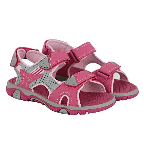 Image of Khombu Girls' River Sandal Pink/Grey