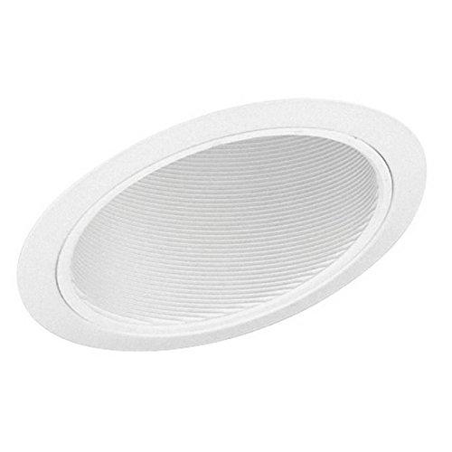 Juno Lighting 614W-WH 6-Inch Standard Slope Downlight White Baffle, White Trim (Standard Slope Trims)