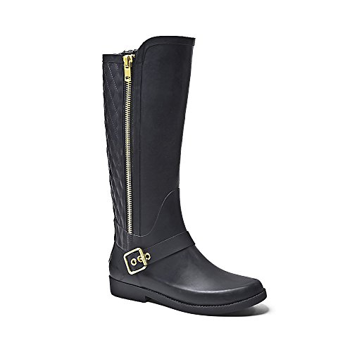 zipper rain boots - 1