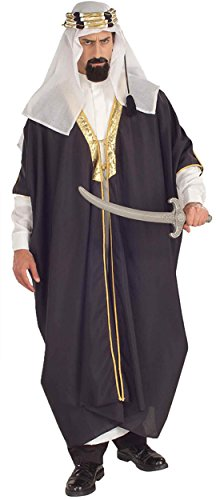Plus Sultan Size Costume (UHC Men's Arab Sheik Desert Prince Arabian Sultan Outfit Halloween Costume, OS (Up to)