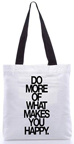 Snoogg Fare Di Più Ciò Che Ti Rende Felice Shopping Bag 13.5x15 Pollici Realizzato In Tela Di Poliestere