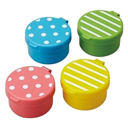 Mini envases salsas lunares rayas caja bento fiambrera