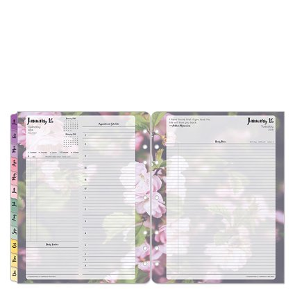 Monarch Daily - Monarch Blooms Daily Ring-bound Planner - Jan 2018 - Dec 2018