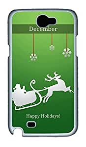 Samsung Note 2 Case Happy December Holidays PC Custom Samsung Note 2 Case Cover White