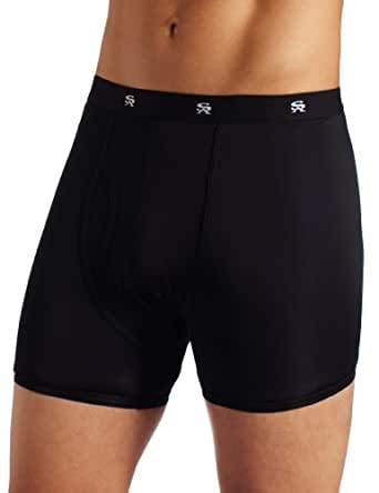 Stacy Adams Men's Regular Boxer Brief, Black, Medium