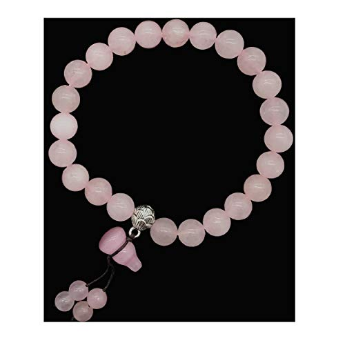 i Natrual Rose Quartz Pink Crystal Wu Lou Bracelet (with a Pounch) ()