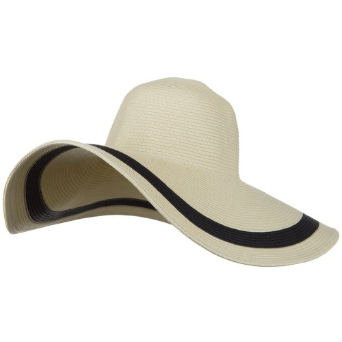 Solid Peak Ladies Wide Brim Toyo Hat - Natural - Toyo Hat Wide Braid