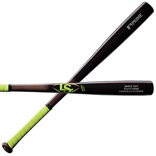 Louisville Slugger Y271 Youth Prime Maple Baseball Bat, Neon/Yellow, 30