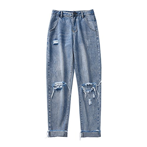 ZHAOXIANGXIANG Fashion Jeans Jeans Lger Confort Loisirs Blue