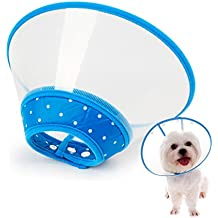 IN HAND Recovery Collar Cone for Dogs and Cats Clear Padded E-Collar with Breathable Soft Edge by
