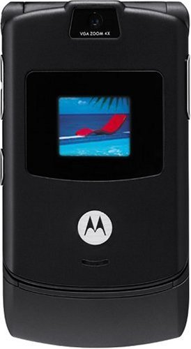 Motorola RAZR V3 Unlocked Phone with Camera, and Video Player - U.S. Version with Warranty (Black)