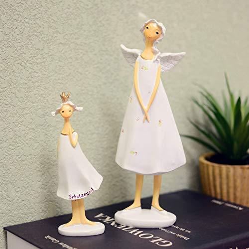Angel Figurines Wholesale - ZAMTAC Angel Figurine Home Accessories Wedding Decoration Resin Fairy Models Crafts Wholesale 2 Pieces/Set ElimElim