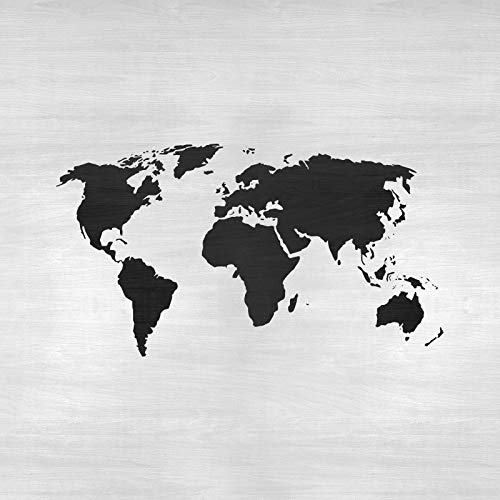 World Map Stencil Template for Walls and Crafts - Reusable Stencils for Painting in Small & Large Sizes by Stencil Revolution (Image #3)