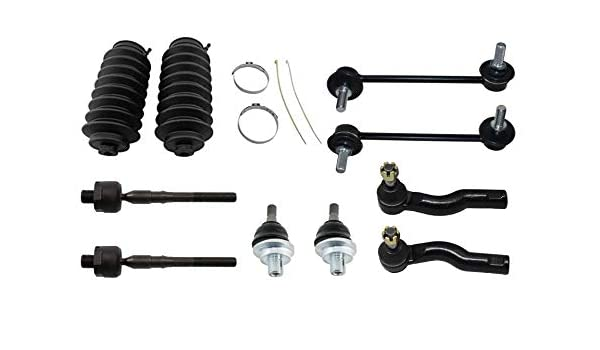 2006 Zephyr Inner Outer Tie Rod w//Boot for 2006-2010 Ford Fusion - - 2006-2009 Milan - Detroit Axle 2007-2009 Lincoln MKZ Sway Bar 12PC Front Upper Ball Joint