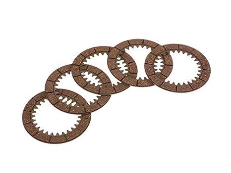 Mza Juego: 5 x innenlamelle (embrague de fricción) - MZ etz250, etz251, etz301, TS250, es175, ES250: Amazon.es: Coche y moto