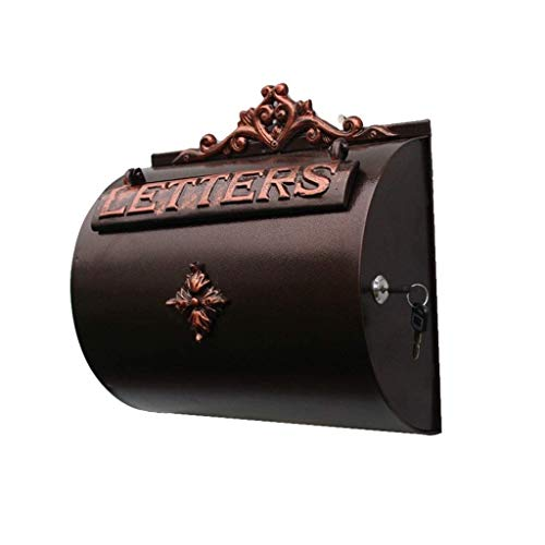 - WIKLE Modern Mailbox Newspaper Delivery Holder - Rust & Weather Proof with Galvanized Stainless Steel Design - Vertical Wall Mount Mailboxes for Outside Iron Multi-Function Mailbox