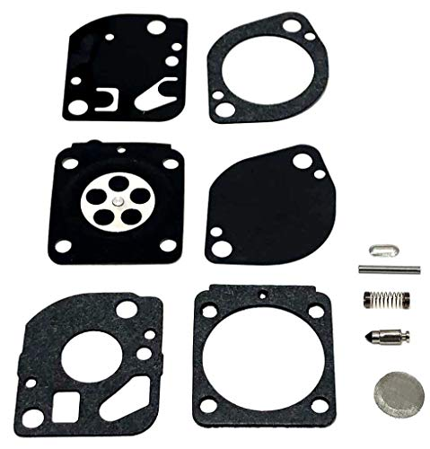 Carburetor Rebuild Overhaul Kit For Zama RB-165. Complete Kit That is OK for 10%+ Ethanol In Fuel, Includes gaskets, diaphragm, welch plug, needle, and inlet lever. ()