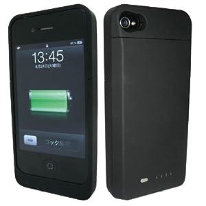 FitsPod iPhone4専用バッテリースーツ ブラック IP4-13BK