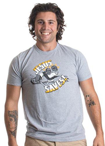 Jesus Saves Hockey Goalie | Funny Christian Hockey Humor Joke Unisex T-shirt