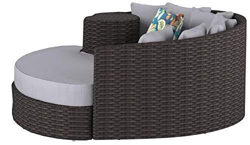 Amazon.com: TK Classics Newport - Mueble de mimbre circular ...
