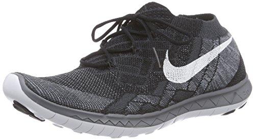 Nike Free 3.0 Flyknit, Damen Laufschuhe, Schwarz (Black/White-Anthracite-Dark Grey), 40 EU