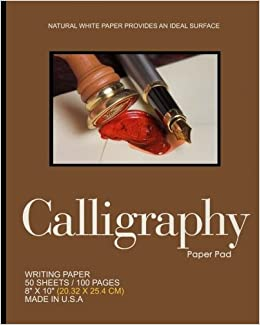 Calligraphy Paper Pad 50 Sheets 100 Pages Brown Cover