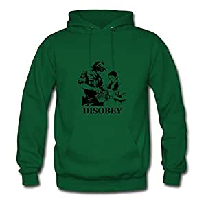 Informal Disobey Hoody Popular Designed Green Cotton X-large Women Custom