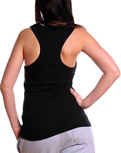 Violento - Camiseta sin mangas - para mujer negro