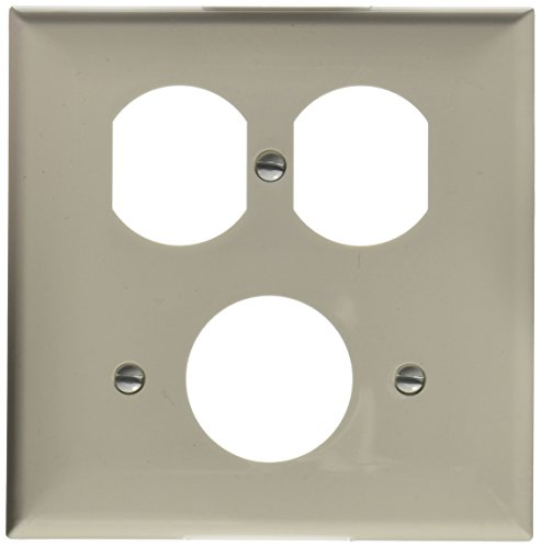 Morris 81686 Lexan Wall Plate, 2 Gang, 2 Duplex, 1 Single Receptacle, White