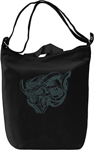 Metal skull Borsa Giornaliera Canvas Canvas Day Bag| 100% Premium Cotton Canvas| DTG Printing|