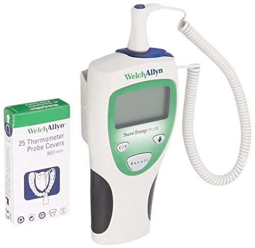 Welch Allyn 01690-200 SureTemp Plus 690 Electronic Thermometer, 4' Cord and Oral Probe with Probe Well by Welch Allyn
