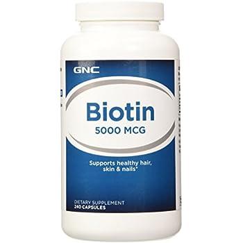 Amazon.com: GNC Super Biotin 6000 MCG, 150 Each: Health ...