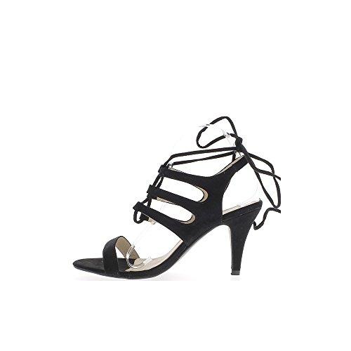 Tolle Sandalen Größe schwarze Schnür-10cm Aspekt Wildleder zurückrufen