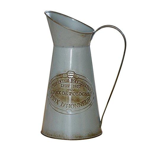(Sundlight Plant Pots, Vintage Kettle Shaped Iron Bucket Garden Flower Pot Vase for Succulent Plants Artificial Flower Decor)