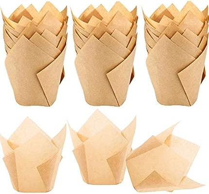 STARUBY - 150 Unidades de Tulipanes de Papel para Hornear Cupcakes ...