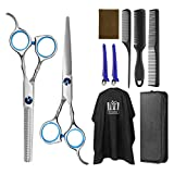 Best Hair Cutting Scissors - Frcolor Hair Cutting Scissors Hairdressing Thinning Shears Kit Review