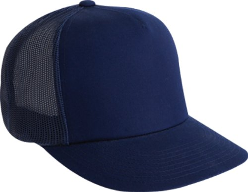 Adjustable Trucker Mesh Cap (Flexfit Adjustable Snapback Classic Trucker Hat by 6006 (Navy))