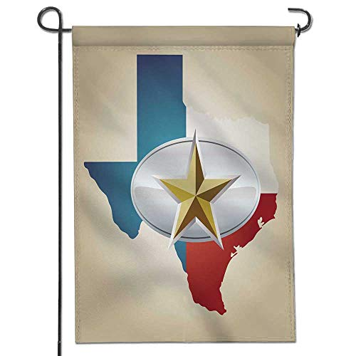 """Jiahonghome Seasonal Garden Flag Texas Flag and State Shape with Star Belt Buckle Double Sided Weatherproof Flags24 x 36"""""""