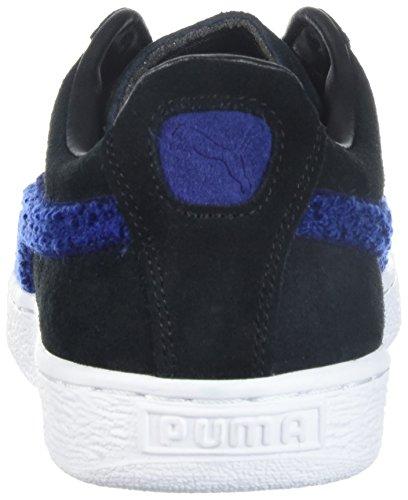 PUMA Mens Suede Classic Terry Sneaker Puma Black-blue Depths mcGVa3q23