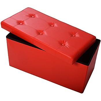 Amazon Com Giantex 30 Quot L Folding Storage Ottoman Bench