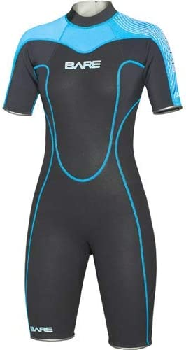 USApnea Womens 2mm Shorty Wetsuit Black//Red