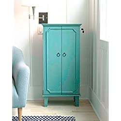 "Hives and Honey 2005-777 Cabby Armoire, 40"" x 19"" x 13.75"", Turquoise"