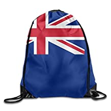 New Zealand Flag Unisex Large Capacity Gym Drawstring Bunch Backpack Young Bags Travel Tote School Rucksack
