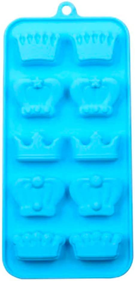 Royal Crowns 10 Cavity Sweet 16 Princess Silicone Mold Baking Chocolate Truffle Gummy Candy Making Ice Cube Molds