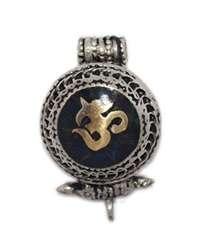 (Gau Prayer Box Pendant Onyx Pendant Om pendant Tibetan Pendant PB305)