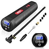 Oasser Air Compressor Mini Portable Tire Inflator Cordless Air Pump for Cars Motorcycles Bicycles Other Inflatables with Digital Pressure Gauge 2000mAh Lithium Battery 12V AC/DC 20Liters/Min P1S