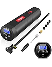 Oasser Tyre Inflator Cordless Car Tyre Pump Air Compressor Portable Digital LCD Display 120PSI 2000mAh Lithium Rechargeable Battery AC/DC 20Litres/Min for Car Bicycle Balls Swimming Rings Toys P1S