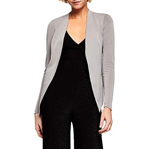 BCBGeneration Women's Tuxedo Blazer, Grey Frost, Small
