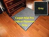 Walk Off Entry Floor Mat - Carpet Mat Pro - 3' x 13' - Grey - Non Skid Indoor Runner Matting