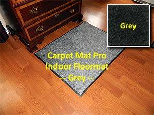 "Heavy Duty Indoor Walk Off Entry Mat For Home - ""Carpet Mat Pro"" - 3' x 7' - Grey - Non Skid Hallway Runner Matting"